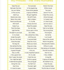 fry phrases - the third 100 - fry word phrases