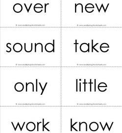 fry word flash cards - the second 100 - black and white