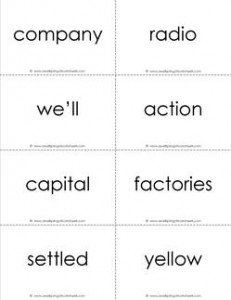 fry word flash cards - the tenth 100 - black and white