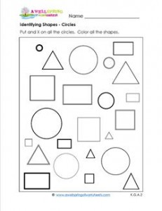identifying shapes - circles