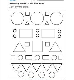 Circle Worksheets - Kindergarten Shapes Worksheets