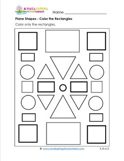 Identifying Shapes - Color the Rectangles