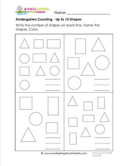 Kindergarten Counting - Up to 10 Shapes