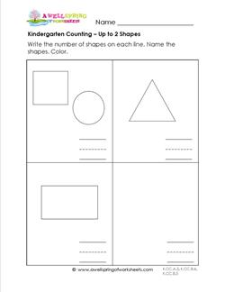 Kindergarten Counting - Up to 2 Shapes