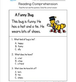 math worksheet : kindergarten reading comprehension worksheets : Kindergarten Reading Comprehension Worksheet