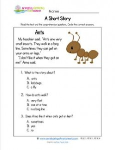 Kindergarten Short Stories - Ants