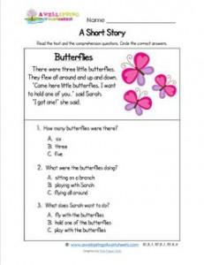 Kindergarten Short Stories - Butterflies