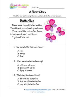 Kindergarten Short Stories - Butterflies