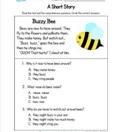 math worksheet : kindergarten reading worksheets with comprehension questions : Story Worksheets For Kindergarten