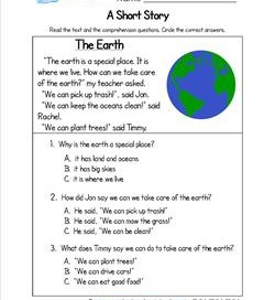 Kindergarten Short Stories - The Earth