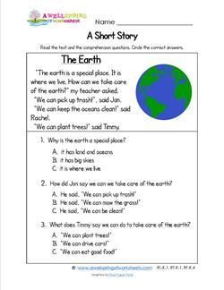 Kindergarten Short Stories - The Earth