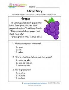 Kindergarten Short Stories - Grapes