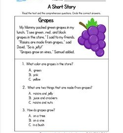 Kindergarten Short Stories - Grapes
