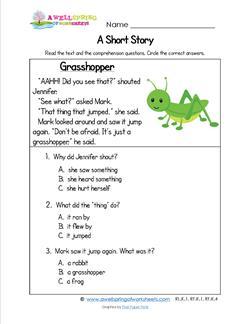 Kindergarten Short Stories - Grasshopper