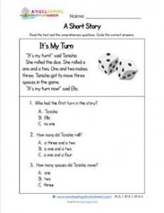 Kindergarten Short Stories - It's My Turn