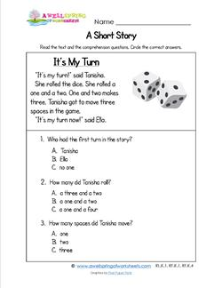 Kindergarten Short Stories - It's My Turn