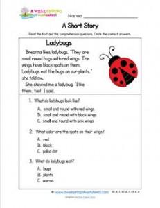 Kindergarten Short Stories - Ladybugs