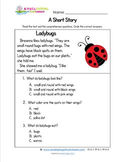 Kindergarten Short Stories - Ladybugs