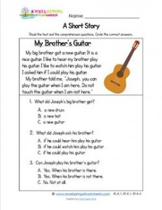 Kindergarten Short Stories - My Brother's Guitar