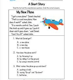 Kindergarten Short Stories - My New Plane