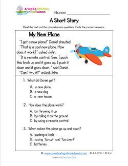Kindergarten Short Stories - My New Plane
