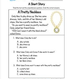 Reading Comprehension Worksheets | A Wellspring