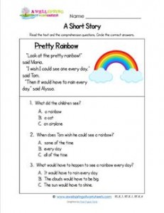short essay on rainbow for kids Answers to 60 short essay questions that require students to understand and interpret the rainbow.