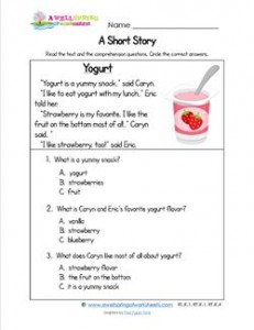 Kindergarten Short Stories - Yogurt