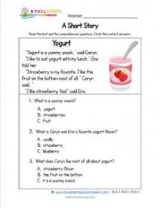 Kindergarten Short Stories - Yogurt