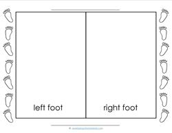Left and Right - Footprints - Position Words