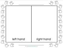 Left and Right - Hand Prints - Position Words