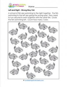 Left and Right - Wrong Way Fish - Position Words