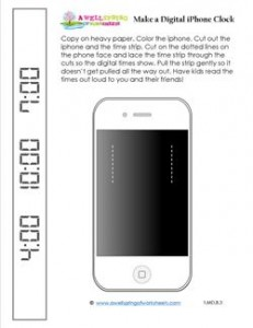 Make a Digital iPhone Clock - Telling Time to the Hour