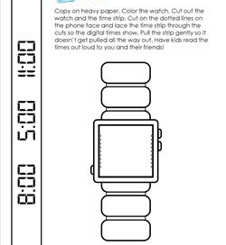 Make a Digital Watch - Telling Time to the Hour