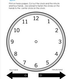 Make a Round Analog Clock - Telling Time to the Hour