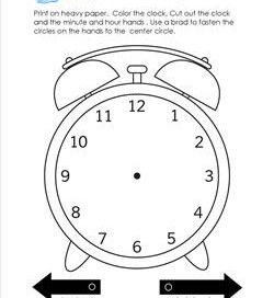 Make an Analog Alarm Clock - Telling Time to the Hour