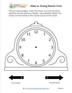 Make an Analog Mantle Clock - Telling Time to the Hour