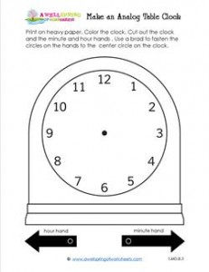 Make an Analog Table Clock - Telling Time to the Hour