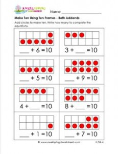 make ten using ten frames - both addends