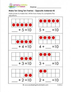 make ten using ten frames - opposite addends #2