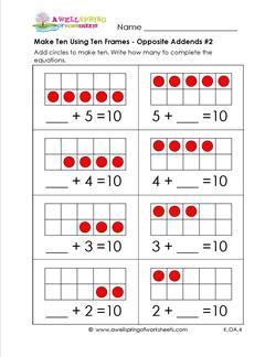 make ten using ten frames - opposite addends #2