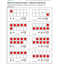 make ten using ten frames - opposite addends #3