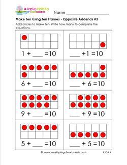 make ten using ten frames - opposite addends #3