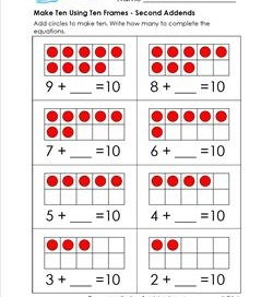 addition worksheets for kindergarten first grade a wellspring. Black Bedroom Furniture Sets. Home Design Ideas