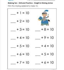 Printables Making Ten Worksheets making ten worksheets davezan kindergarten addition a wellspring of worksheets