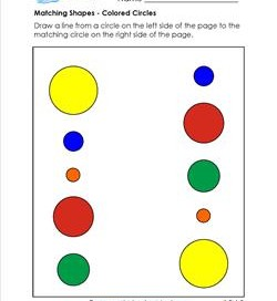 matching shapes - colored circles
