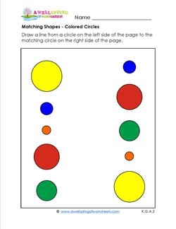 matching shapes - colored circles