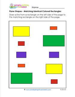 Matching Shapes - Identical Colored Rectangles