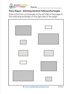 Matching Shapes - Identical Patterned Rectangles