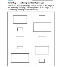 Matching Identical Shapes - Rectangles